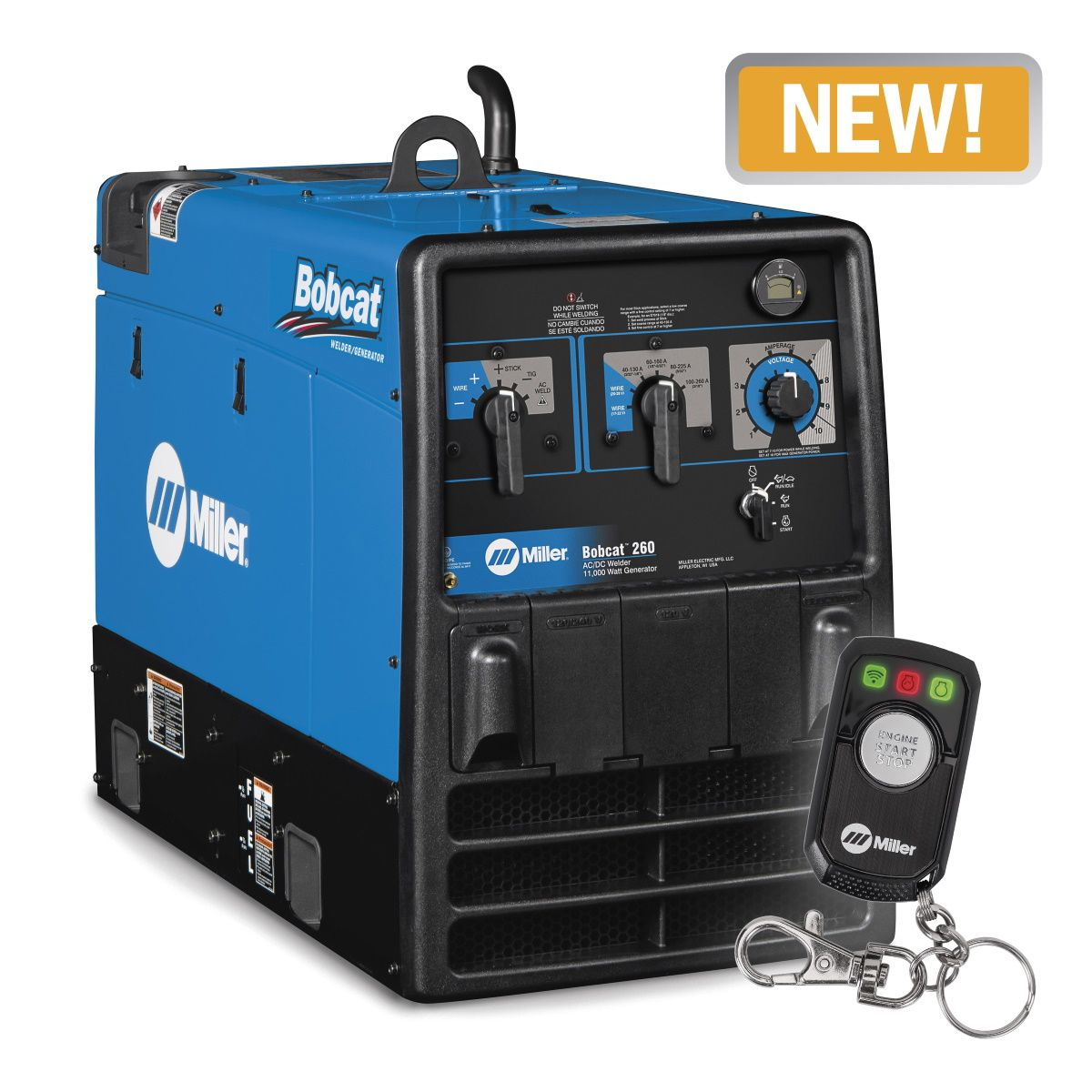 Miller Bobcat 260 Kohler Welder/Generator with GFCI and Remote Start/Stop (907792)