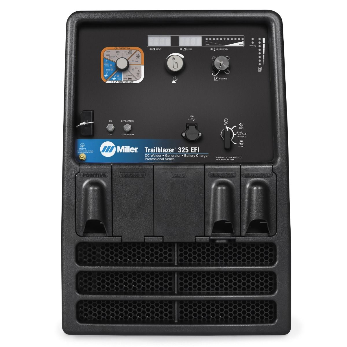 Miller Trailblazer 325 Efi Kohler Engine Welder Generator With Excel Also 220 Volt To Adapter On Cord Wiring Power Battery Charge Jump Start 907754003