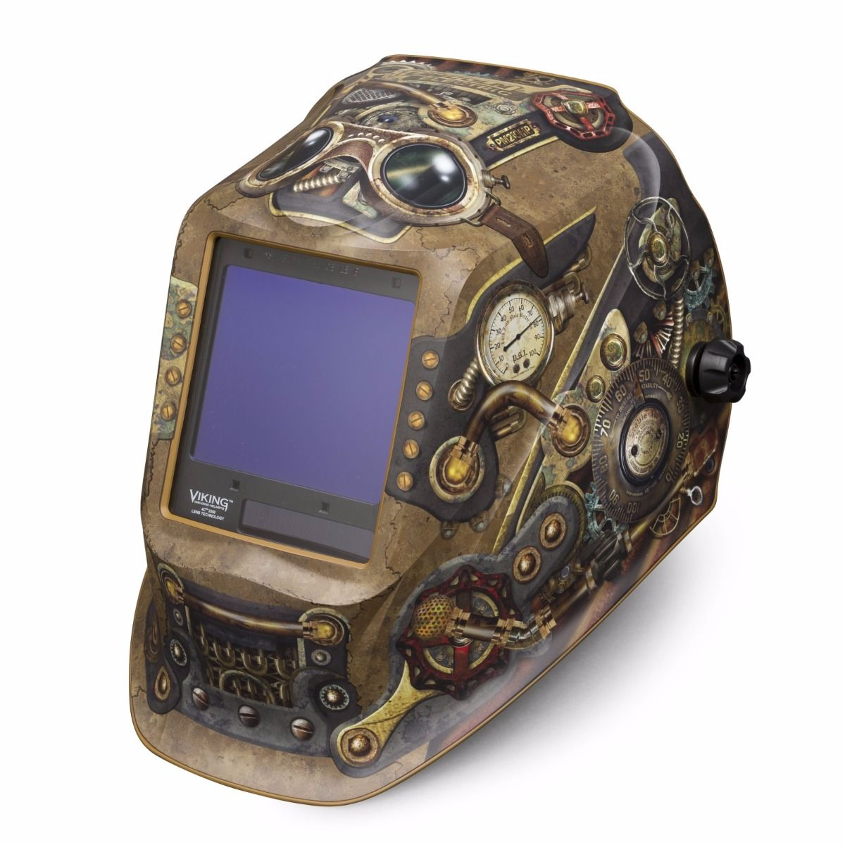 cc0d327a8 Lincoln Viking 3350 Series Steampunk Auto Darkening Welding Helmet  (K3428-3). Tap to expand