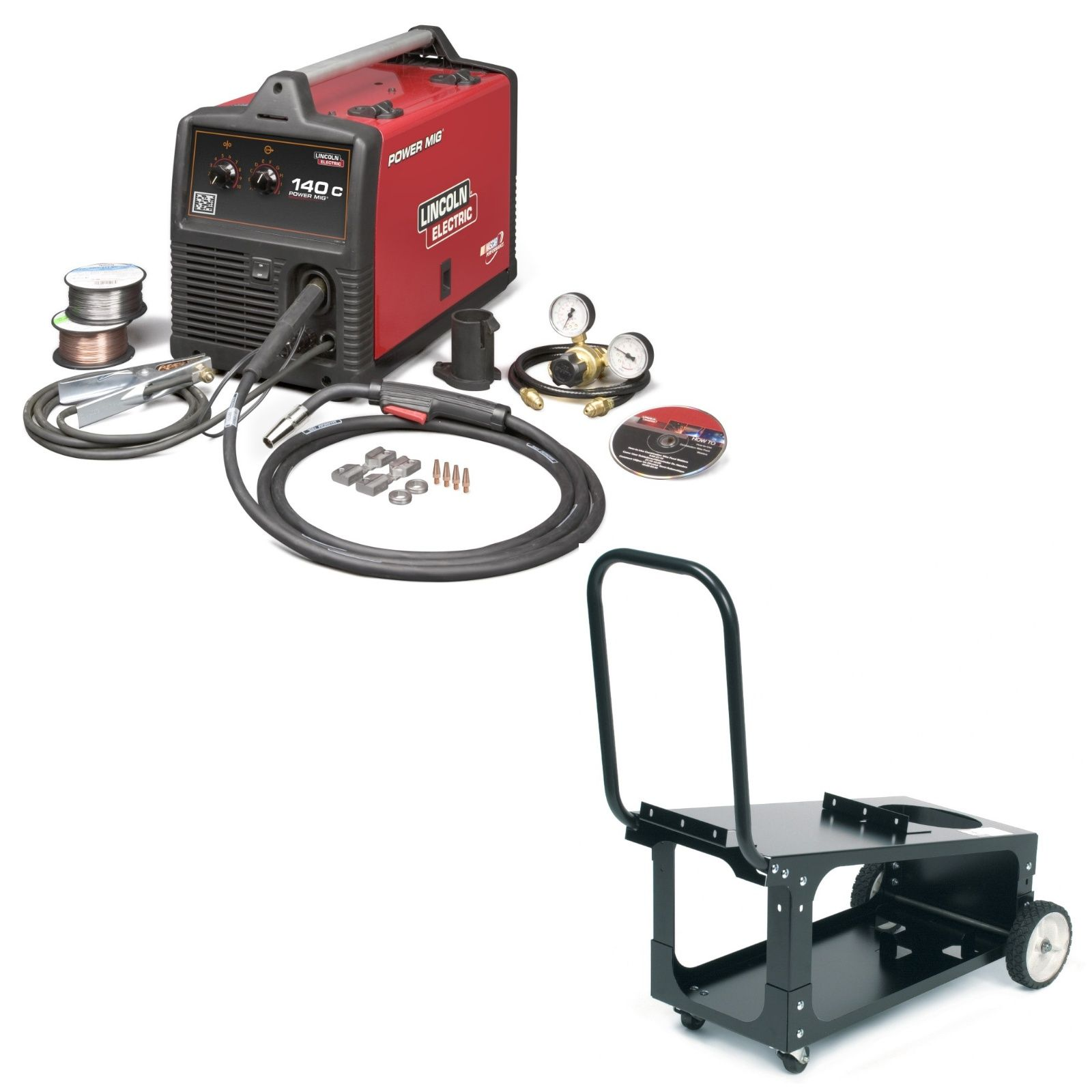 Lincoln Power MIG 140C MIG Welder with Cart for sale (K2471-2 ...