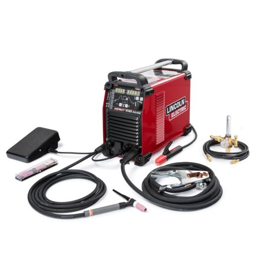 Lincoln Aspect 230 AC/DC TIG Welder Air Cooled One-Pak (K4341-1)