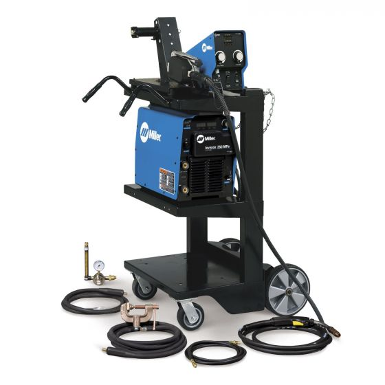 Miller Invision 352 MPa MIG Welder with Feeder, Accessory Package, and Cart (951287)