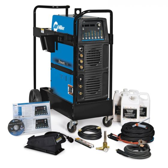 Miller Dynasty 350 TIG Welder and Water-Cooled Package with Foot Control (951401)