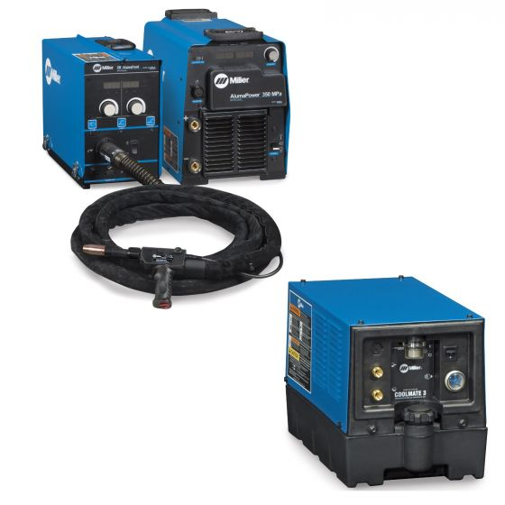 Miller AlumaPower 350 MPa MIG Welder with Aux Power, and Accessory Package (951554)