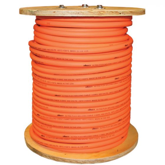 500 Ft. 2/0 Welding Cable Reel Ultra-Flex (DWCCAB2/0UF-500)