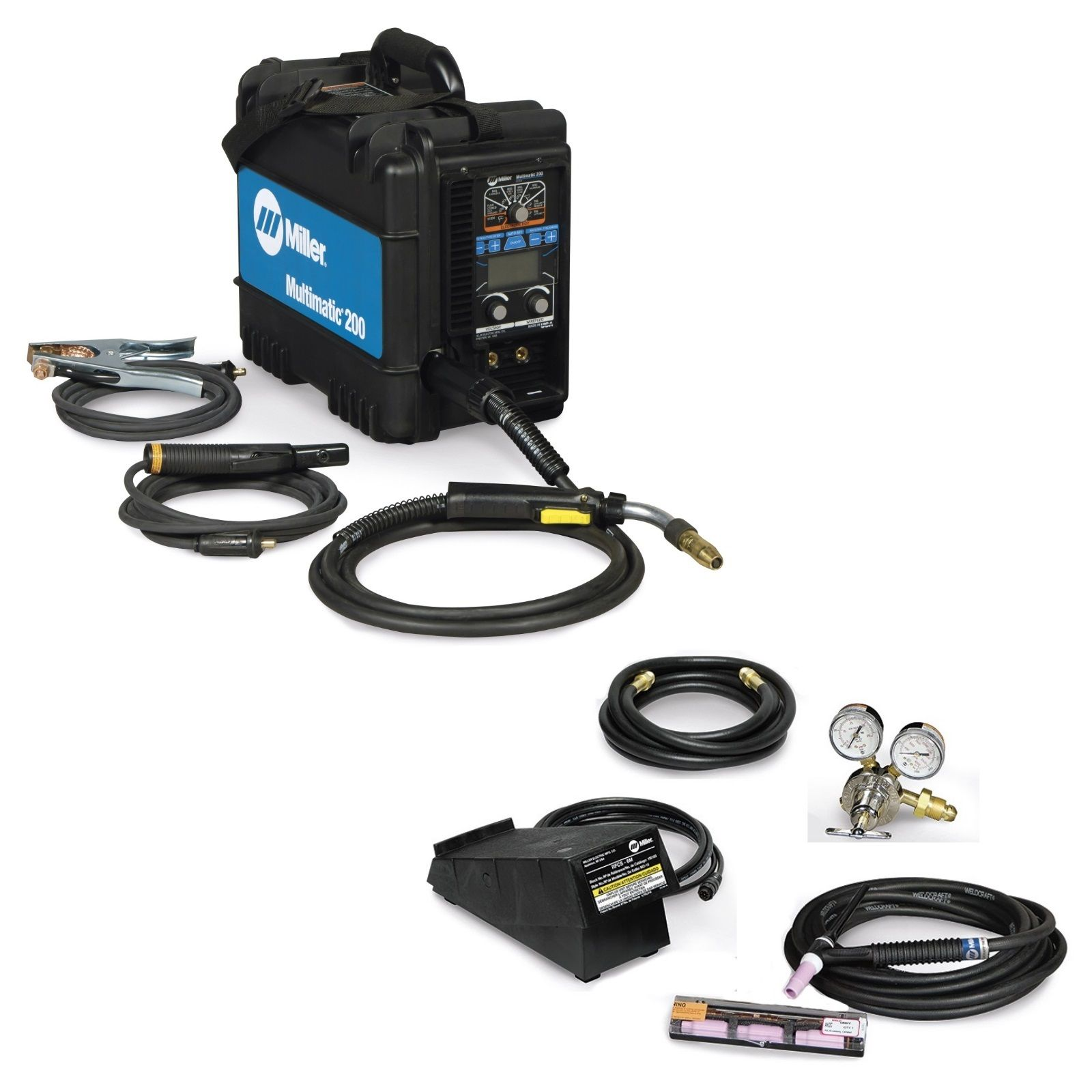 Miller Multimatic 200 Multiprocess Welder with TIG Contractor Kit (951649)