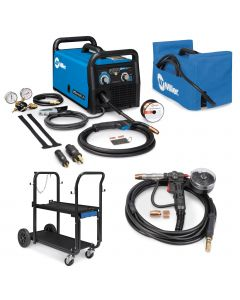 Miller Millermatic 211 MIG Welder, Spoolmate 150, and Accessories (907614)