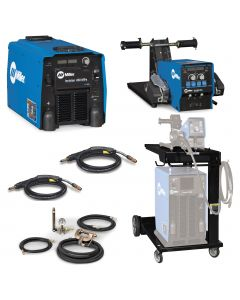 Miller Invision 450 MPa MIG Welder with D-74 Feeder, Accessory Package, and Cart (951457)