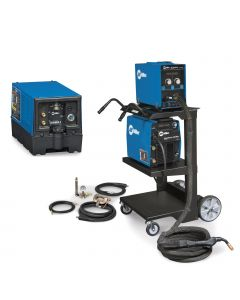 Miller AlumaPower 450 MPa MIG Welder with Aux Power, Accessory Package and Cart (951559)