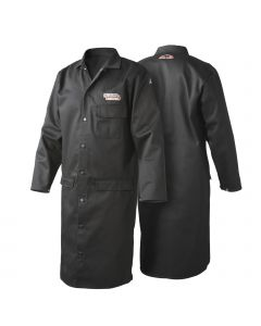Lincoln Black Flame Retardant Lab Coat