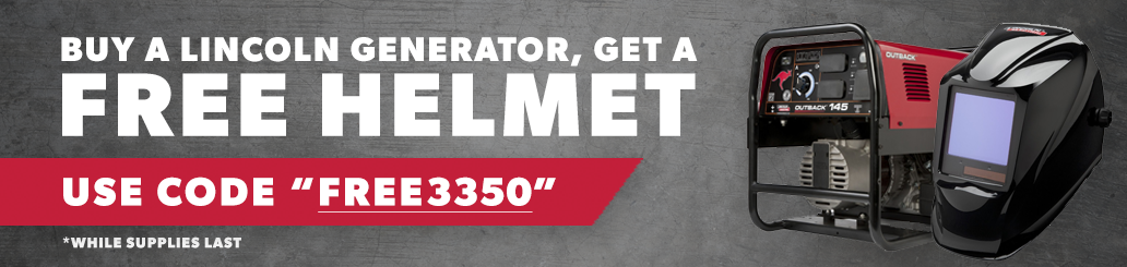 Buy a Lincoln Generator and get a FREE Lincoln 3350 Helmet