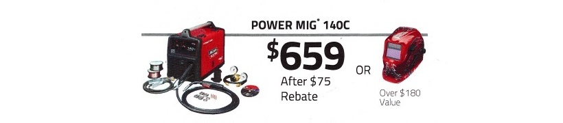 Lincoln Power MIG 140C Money Matters Promotion