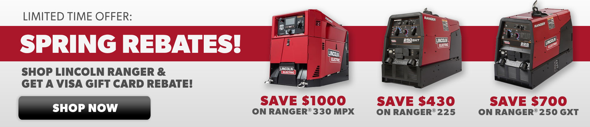Lincoln Ranger Engine Drive Promotion